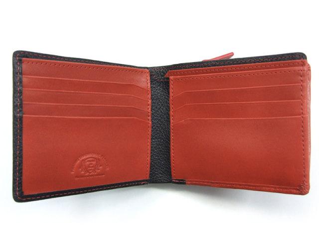 NPF6212 Favor(フェイバー)  二つ折り財布(小銭入れあり) 「プレリートラディッショナルファクトリー」 レッド 内作り