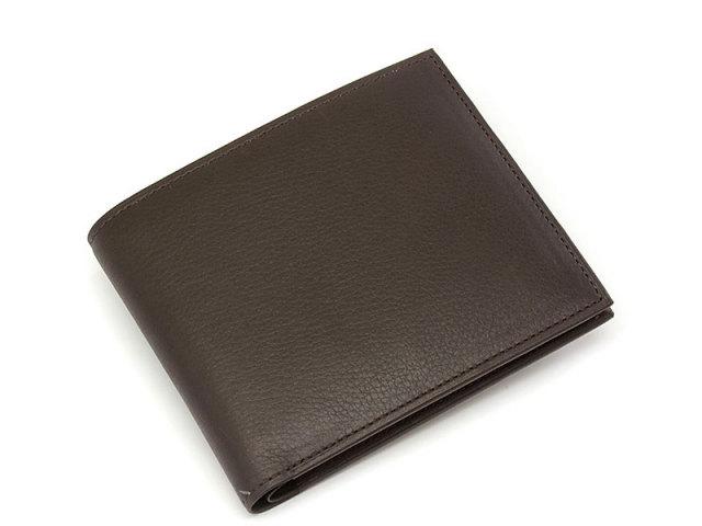 Kip classic(キップクラシック)  二つ折り財布(小銭入れなし)  「プレリーギンザ」 NPM2222 ダークブラウン 正面