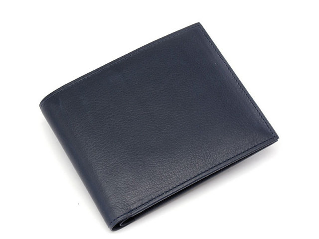 Kip classic(キップクラシック)  二つ折り財布(小銭入れなし)  「プレリーギンザ」 NPM2222 ネイビー 正面