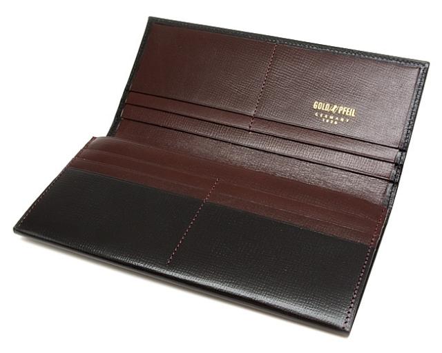 ヘリテージ 長財布 「ゴールドファイル」 GP23022 クロ 内作り