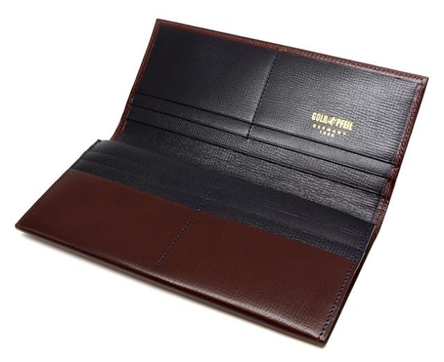 ヘリテージ 長財布 「ゴールドファイル」 GP23022 バーガンディ 内作り