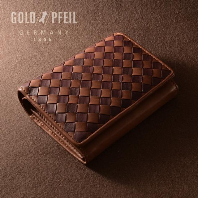 ソフト メッシュ 二つ折り財布(小銭入あり)「ゴールドファイル」 GP37315