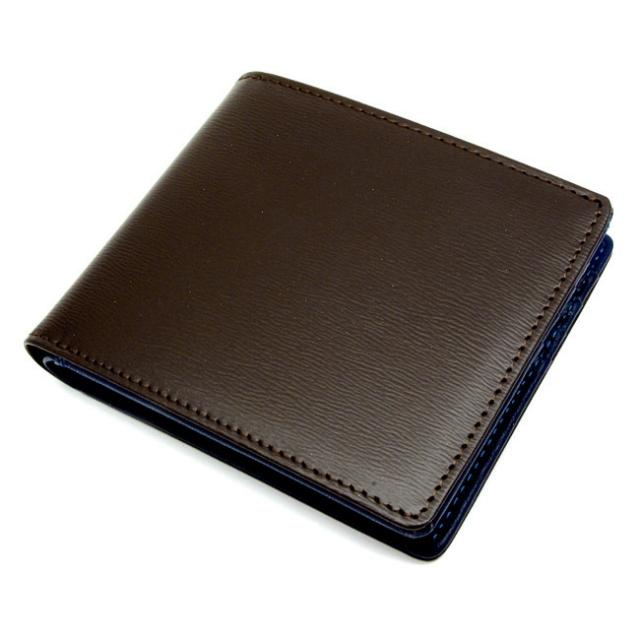 NP11311 フレンチ ボックス カーフ二つ折り財布(小銭入なし) 「プレリー1957」
