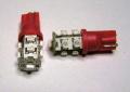 □9連SMD、赤LEDウエッジ球T10,T16交換用 2個セット