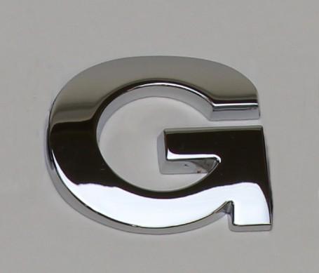 クロームメッキエンブレムプレート G 【メール便可】