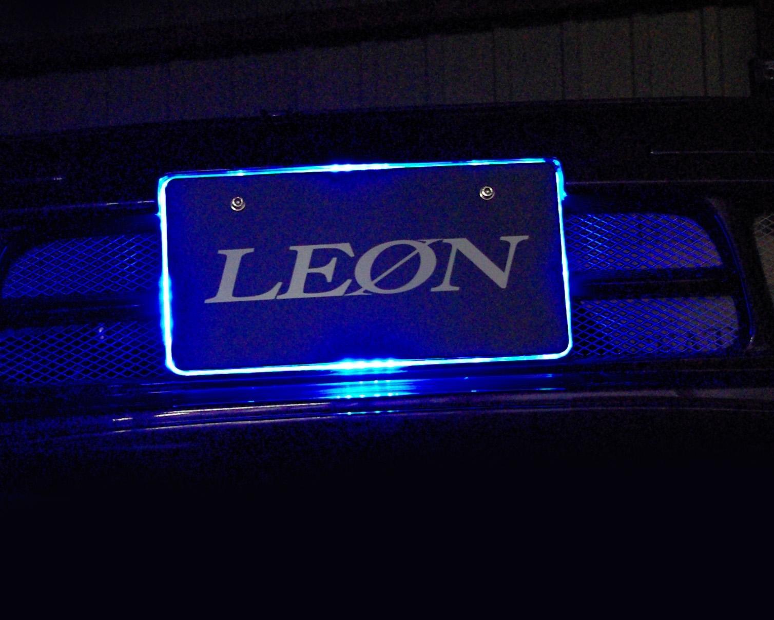 【汎用品】LEDアクリルナンバープレート 単色