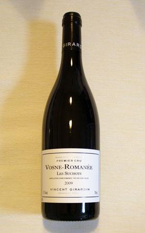 ヴァンサン・ジラルダン ヴォーヌ・ロマネ 1er cru レ・スショ 2009年(一級畑)