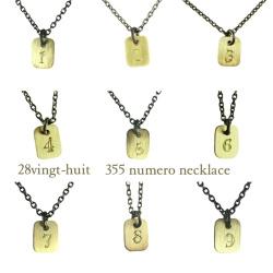 28vingt huit 355 numero number necklace k18yg silver925 355 18 28vingt huit numero number mozeypictures Gallery