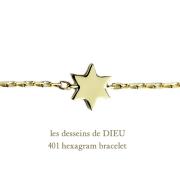 ��ǥå���ɥ��ǥ塼 401 ϻ���� �?�ܤ����� ����֥쥹��å�18��,les desseins de DIEU Hexagram Bracelet K18