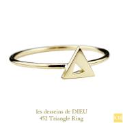 ��ǥå���ɥ��ǥ塼 452 �ȥ饤���� ���ѷ� ��� 18��,les desseins de DIEU Triangel Ring K18