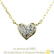 ��ǥå���ɥ��ǥ塼 463 �����ǥ� �ϡ��� ��������� �ͥå��쥹 18��,les desseins de DIEU Candy Heart Diamond Necklace K18