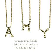 ��ǥå���ɥ��ǥ塼 641 �ɥå� ���˥���� ��������� �ͥå��쥹 18��,les desseins de DIEU Dot Initial Diamond Necklace K18