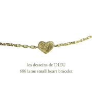 ��ǥå���ɥ��ǥ塼 686 ��� ���⡼�� �ϡ��� �֥쥹��å� 18��,les desseins de DIEU Lame Small Heart Necklace K18