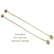 �ԥʥ��ơ��� 291 �����ˡ� �����ץ� ������ ��������� ����ꥫ�� �ԥ��� 18��,pinacoteca Tiny Star Diamond American Earrings K18
