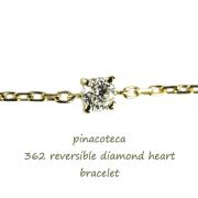 �ԥʥ��ơ��� 362 4���� ��γ��������� �ϡ��� ����֥쥹��å� 18��,pinacoteca Solitaire Diamond Heart Bracelet K18