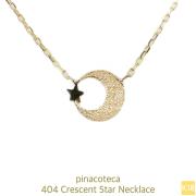 �ԥʥ��ơ��� 404 ���쥻��� ��� ������ ��� ����ͥå��쥹 18��,pinacoteca Crescent Moon Star Lame Necklace K18