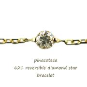 pinacoteca 621 Reversible Diamond Star Bracelet,��γ������ ������ ���� �֥쥹��å� K18 �ԥʥ��ơ���