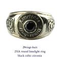 28vingt-huit 231a ラウンド カレッジ リング ブラック ジルコニア メンズ シルバー,ヴァンユィット Round limelight ring Silver Mens
