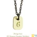 ������楤�å� 355 �ʥ�С� ���� �ͥå��쥹 18�� ����С� ���,28vingt-huit Numero Number Necklace K18 Silver Mens