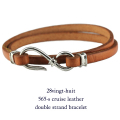 28vingt-huit 565s ���롼�� �쥶�� 2Ϣ �֥쥹��å� ����С� ��� ����С�,������楣�å� Cruise Leather Bracelet Silver Mens
