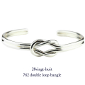 28vingt-huit 762 ���֥� �롼�� �Х󥰥� ��� ����С�,������楣�å� Double Loop Bangle Silver Mens