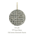 �ȥ��� �ץ饤 575 ���� ��������� ���㡼�� �ڥ����ȥȥå� 18��,two ply Full Moon Diamond Charm K18