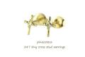 �ԥʥ��ơ��� 247 �����ˡ� ���? ���� �����å� �ԥ��� 18��,pinacoteca Tiny Cross Stud Earrings K18