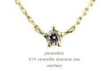 pinacoteca 379 5 Prong Reversible Diamond Star Necklace �ԥʥ��ơ��� 5����  ������ Ʃ���� ��γ������ ���� �ͥå��쥹 0.05ct