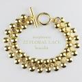 acopinaco 22 フローラル レース ブレスレット ゴールド,アコピナコ Floral Lace Bracelet Gold,パーティ アクセサリー