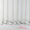 Dieu 12 Initial necklace A E H K M N R S T Y イニシャル ネックレス デュー