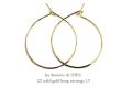 les desseins de DIEU 121 Solid Gold Hoop Earrings 1.5,���� �ա��ץԥ��� K18,�ϥ�ɥᥤ��,��ǥå���ɥ��ǥ塼