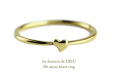 les desseins de dieu 246 micro heart ring