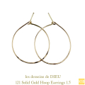 ��ǥå���ɥ��ǥ塼 121 �ա��ץԥ��� �ϥ�ɥᥤ�� 18�� ����,les desseins de DIEU Solid Gold Hoop Earrings K18