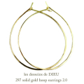 ��ǥå���ɥ��ǥ塼 297 �ա��ץԥ��� �ϥ�ɥᥤ�� 18�� ����,les desseins de DIEU Solid Gold Hoop Earrings K18