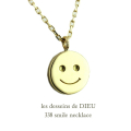 ��ǥå���ɥ��ǥ塼 338 ���ޥ��� �ˤ������ �ͥå��쥹 18��,les desseins de DIEU Smiley Necklace K18