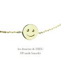 レデッサンドゥデュー 339 スマイル にこちゃん ブレスレット 18金,les desseins de DIEU Smiley Bracelet K18