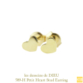 ��ǥå���ɥ��ǥ塼 589-H �ץ� �ϡ��� �����å� �ԥ��� K18,les desseins de DIEU Petit Heart Stud earrings 18��
