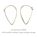 ��ǥå���ɥ��ǥ塼 663 �ƥ����ɥ�å� �ա��ץԥ��� 18��,les desseins de DIEU Teardrop Hoop Earrings K18