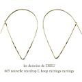 ��ǥå���ɥ��ǥ塼 665 �ƥ����ɥ�å� �ա��ץԥ��� 18��,les desseins de DIEU Teardrop Hoop Earrings K18