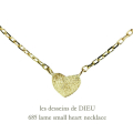 ��ǥå���ɥ��ǥ塼 685 ��� �ϡ��� �ͥå��쥹 18��,les desseins de DIEU Lame Heart Necklace K18