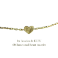 ��ǥå���ɥ��ǥ塼 686 ��� ���⡼�� �ϡ��� �֥쥹��å� 18��,les desseins de DIEU Lame Small Heart Necklace K18