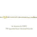 ��ǥå���ɥ��ǥ塼 709 �ϡ��� ��������� �֥쥹��å� 18��,les desseins de DIEU Heart Diamond Bracelet K18