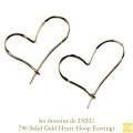 ��ǥå���ɥ��ǥ塼 796 �ϡ��� �ա��ץԥ��� 18��,les desseins de DIEU Solid Gold Heart Hoop Earrings K18