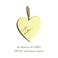 ��ǥå���ɥ��ǥ塼 829 �饤�� ������ �ϡ��� ���㡼�� 18��,les desseins de DIEU Life With Heart Charm K18