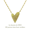 ��ǥå���ɥ��ǥ塼 830 �ݥ���ƥ��� ��� �ϡ��� �ͥå��쥹 18��,les desseins de dieu Lame Heart Necklace K18