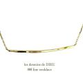 les desseins de DIEU 888 Line Necklace K18,�ϥ�ɥᥤ�� ���� ����ͥå��쥹 18��,��ǥå���ɥ��ǥ塼 ���ܥͥå��쥹