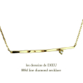 ��ǥå���ɥ��ǥ塼 888d �ĥ��� �饤�� �С� ��������� �ͥå��쥹 18��,les desseins de DIEU Line Diamond Necklace K18