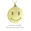 ��ǥå���ɥ��ǥ塼 893 ���ޥ��� ���ޥ��꡼ ��� �ͥå��쥹 18��,les desseins de DIEU Smiley Long Necklace K18 50cm