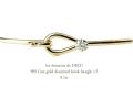 ��ǥå���ɥ��ǥ塼 909  ������� ��γ��������� �եå� �Х� 18��,les desseins de DIEU Fine Gold Diamond Hook Bangle K18