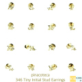 �ԥʥ��ơ��� 346 �����ˡ� ���˥���� �����å� �ԥ��� Z 18��,pinacoteca Tiny Initial Stud Earrings Z K18